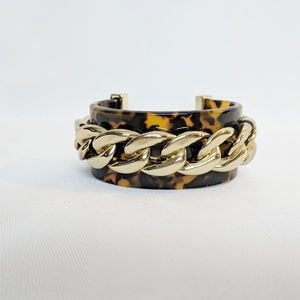 Fancy BaubleBar Tortoise Shell w/ Gold Bracelet